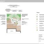 Gesamtkonzept moderner Kiesgarten