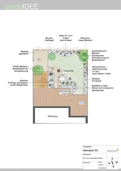 Ideenplan 2 gardomat for Moderner kiesgarten