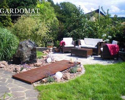 mediterraner Garten mit Lounge