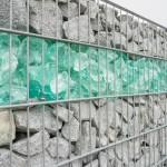 Glasfüllung Gabionen