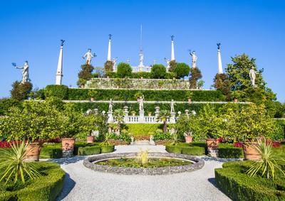 Italienischer Garten des Palastes auf Isola Bella