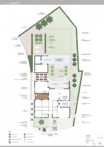 Konzeptplan puristischer Gartenstil