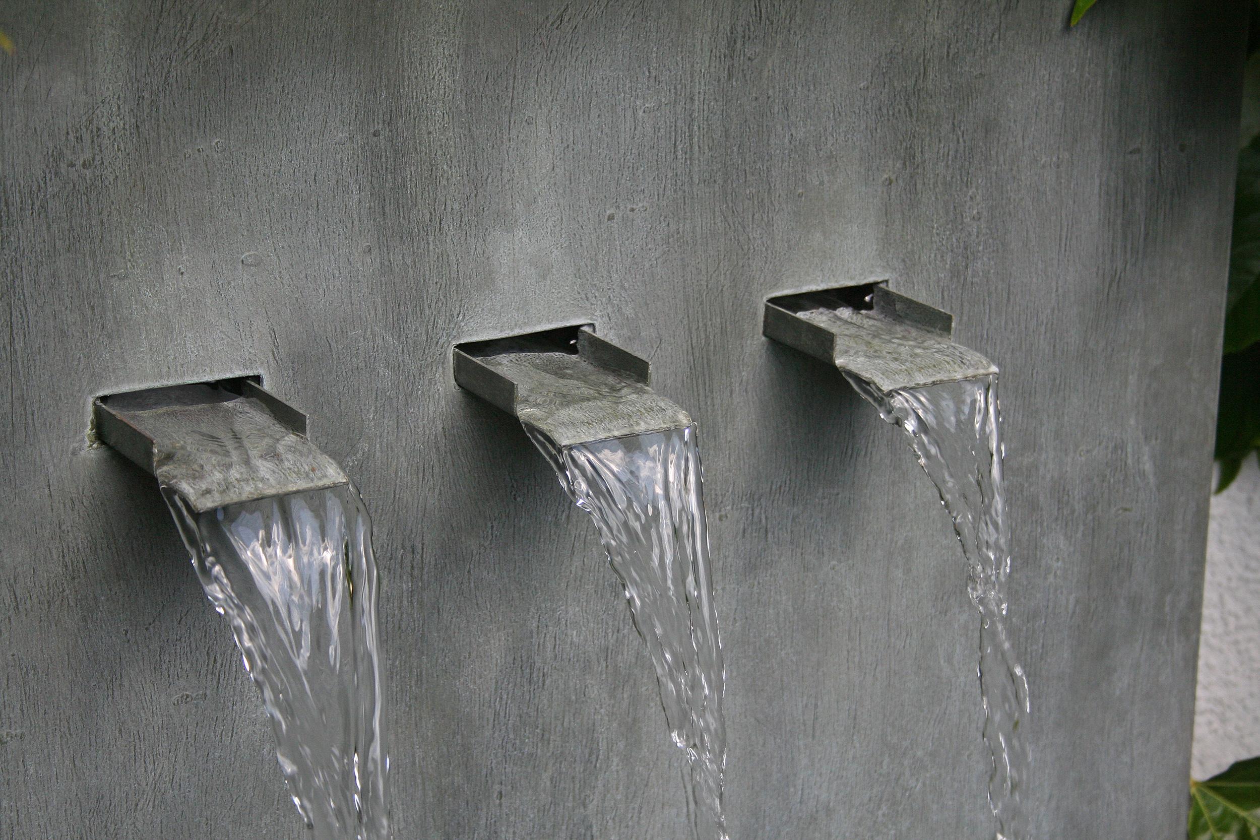 Wandbrunnen Wasserfall Wand Zinkart Wall 3 Gardomat