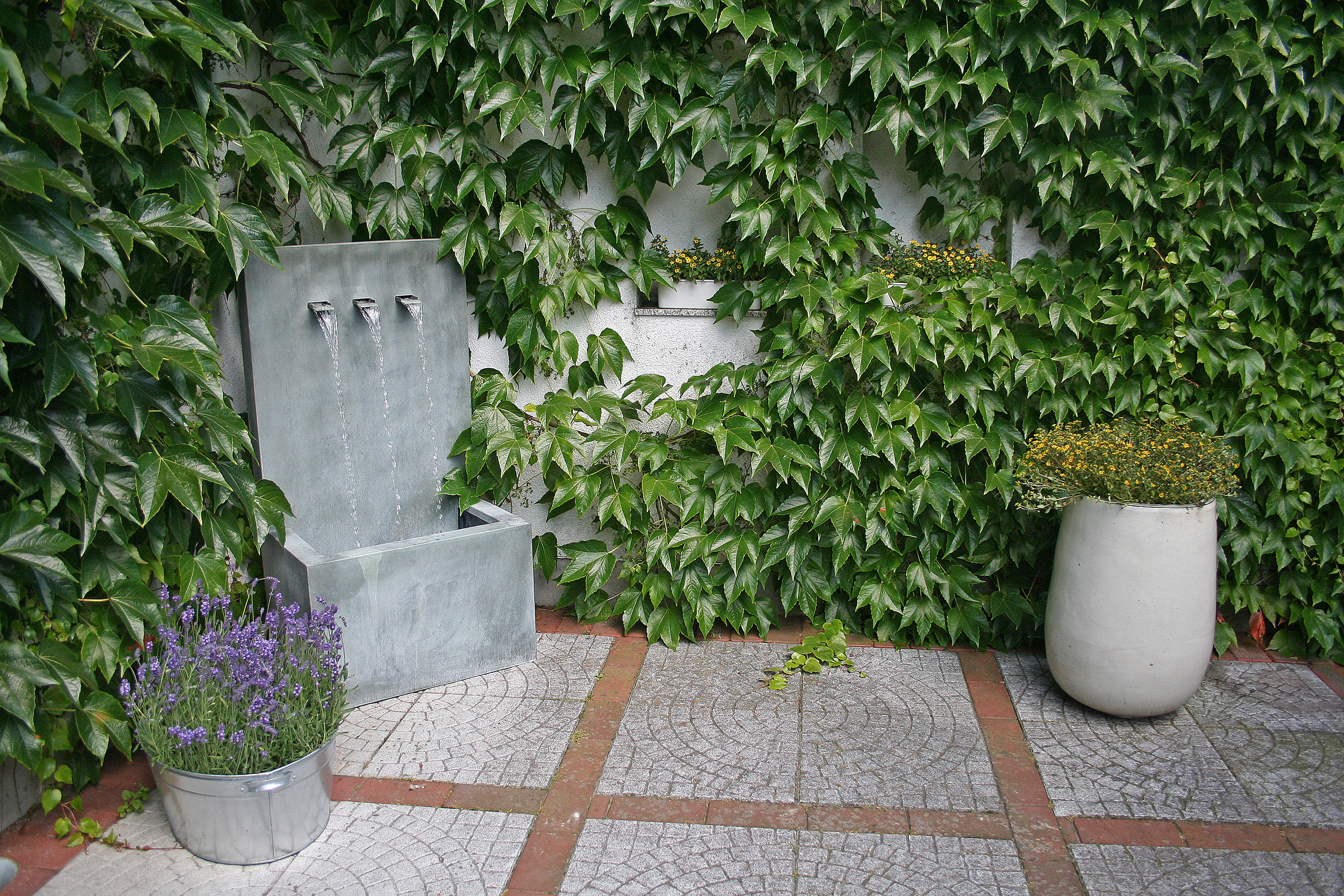 Wandbrunnen wasserfall wand zinkart wall 3 gardomat - Wand wasserfall ...