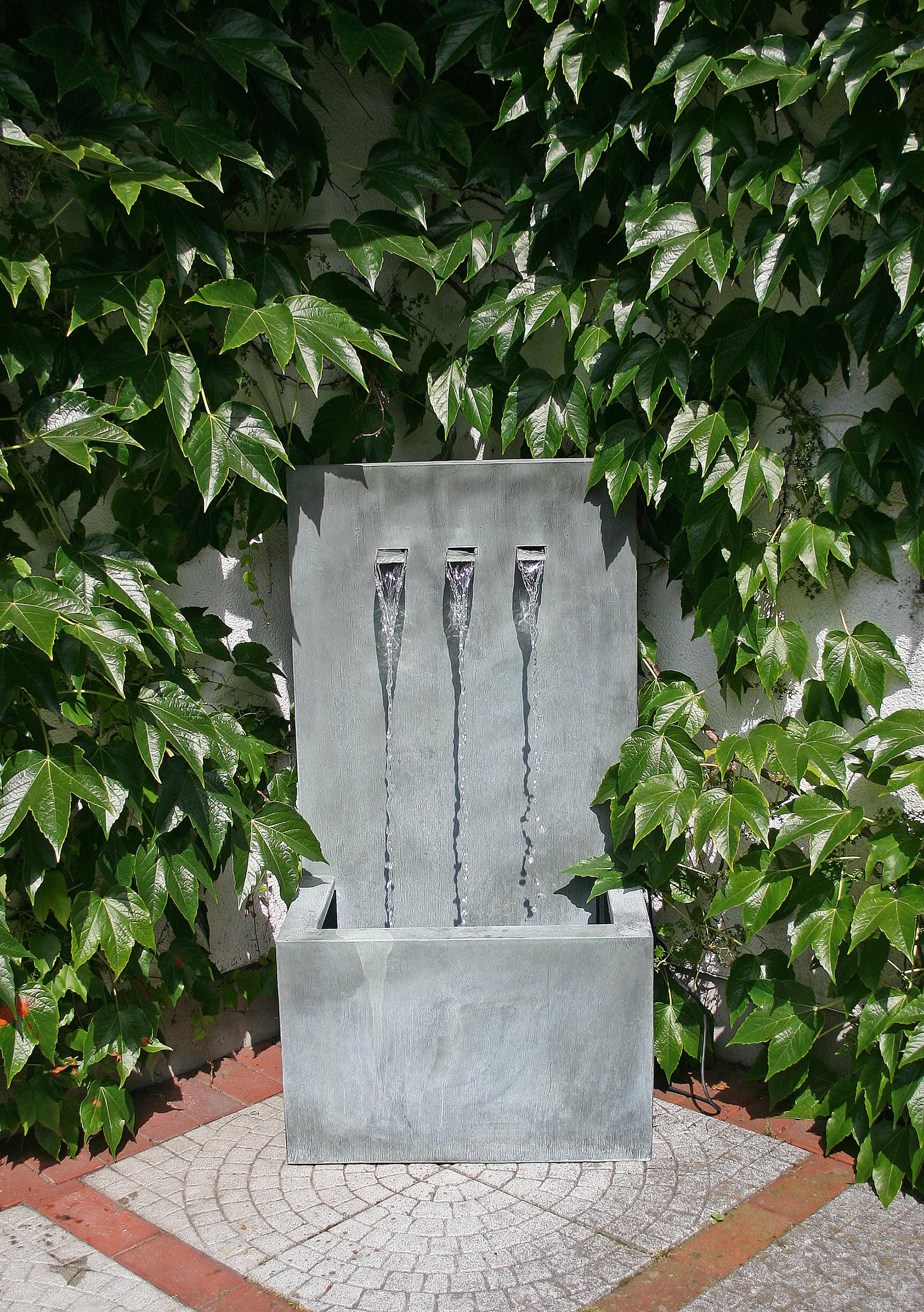 3524 slink wandbrunnen wasserfall wand zinkart wall 3 3. Black Bedroom Furniture Sets. Home Design Ideas