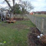 vorher Foto mit Baumbank im Garten