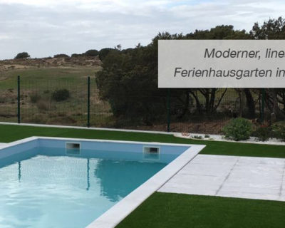 Moderner, Linearer Ferienhausgarten In Portugal