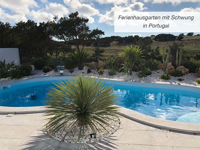 Einstieg Ferienhausgarten mit Schwung in Portugal