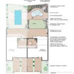 1. Ideenplan Ferienhausgarten mit Schwung