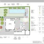 Konzeptplan puristischer gestufter Garten