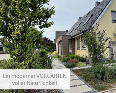 Einstiegsbild moderner Vorgarten