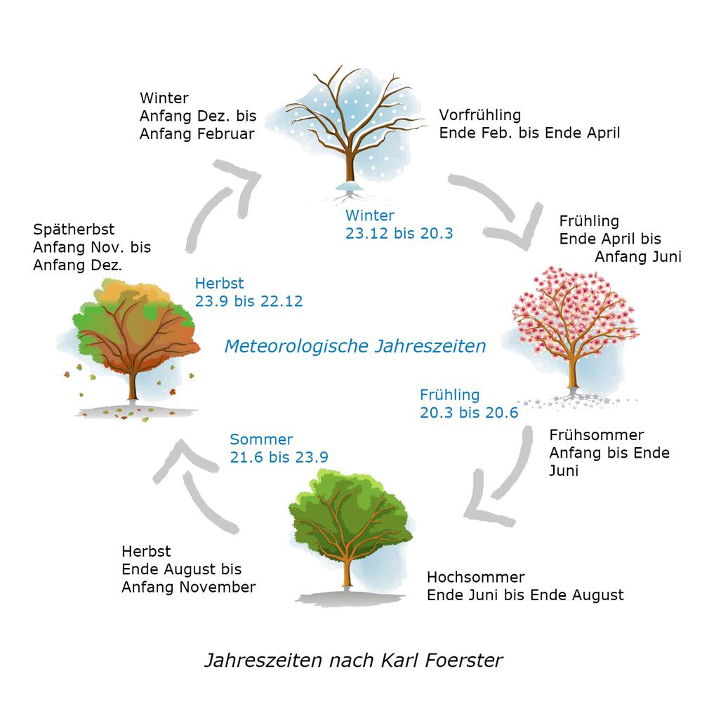 Meteorologische-und-Foerster-Jahreszeiten