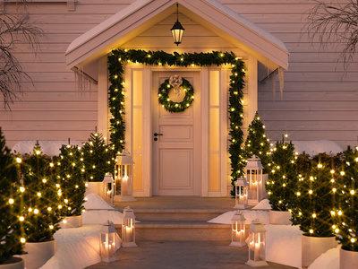 Adventsbeleuchtung im Garten