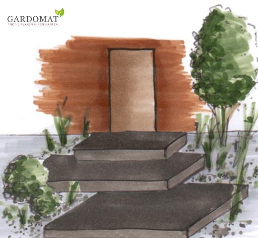 Vorgarten mit individuellen Eingang